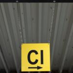 ONE2ID Locatiebord magazijnbord bewegwijzering plafond