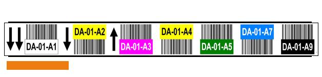 ONE2ID Magazijnlabels-stellinglabels-met-kleuren-barcode-en-pijlen
