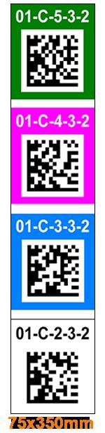 ONE2ID Stellinglabels onderdoorgang etiketten staander