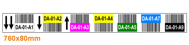 ONE2ID Warehouse-labels-color-coding-with-barcode