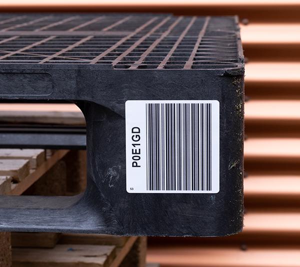 ONE2ID Palletlabels barcode etiketten magazijnlabels