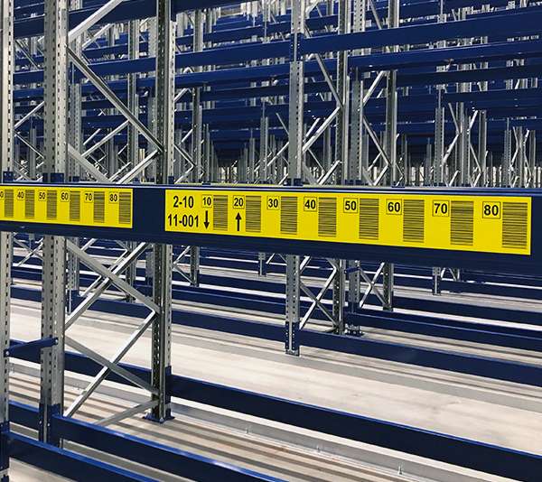 ONE2ID Stellinglabels magazijnlabels verticale barcodes