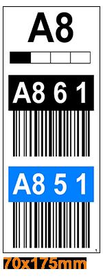 ONE2ID Warehouse labels long range scanning overhead bays