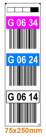 ONE2ID Warehouse labels warehouse signs overhead bays