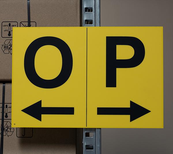 ONE2ID Gangpadbord stellingbord vlakbord magazijn
