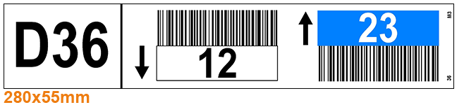 ONE2ID Stellinglabels palletstellinglabels kleurcodering