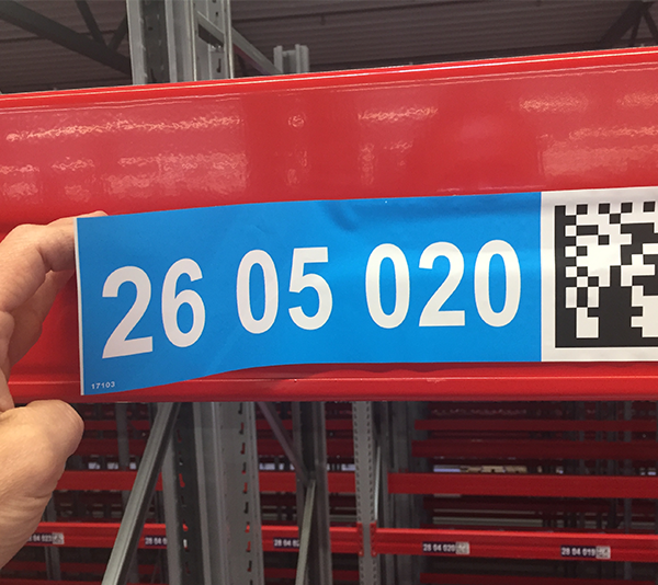 ONE2ID Verwijderbare etiketten herpositioneerbaar magazijnlabels