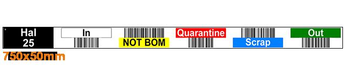 ONE2ID Stellinglabels magazijn multikleur barcod