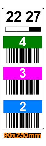 ONE2Id Verticaal stellinglabel onderdoorgang barcode scannen