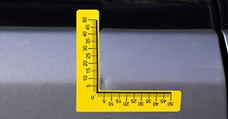 ONE2ID Verwijderbaar etiket autoschade
