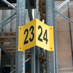 ONE2ID Aisle pallet racking sign V-sign warehouse