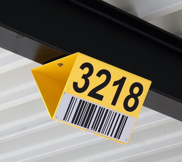 ONE2ID Bulk storage signs warehouse signs long range scanning