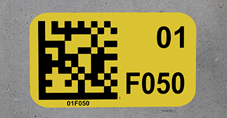 ONE2ID Floor labels economy polyester warehouse