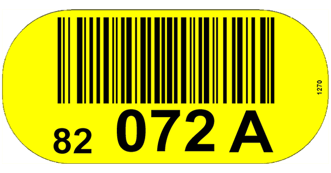 ONE2Id Floor labels warehouse floor bulk storage