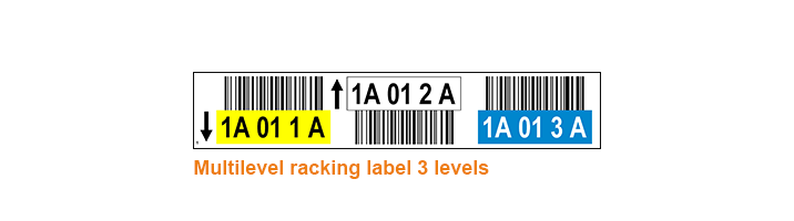 ONE2ID Racking labels warehouse scannning 3 levels