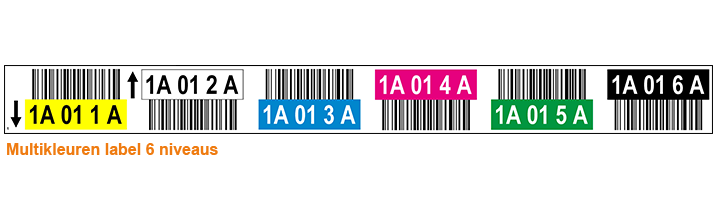 ONE2ID Warehouse pallet racking label 6 levels