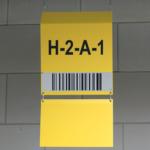 ONE2ID Warehouse sign L-sign bulk storage long range scanning