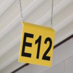 ONE2Id Warehouse signs bulk storage overhead bins