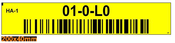 ONE2ID Warehouse rack bin and shelf labels
