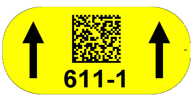 ONE2ID Floor label warehouse floor location scanning