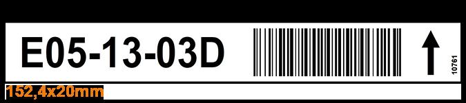 ONE2ID Magazijnlabels legbordstelling picklocaties