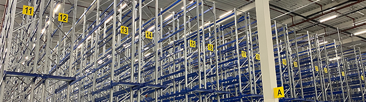 ONE2ID Rack and aisle signs warehouse flat signs