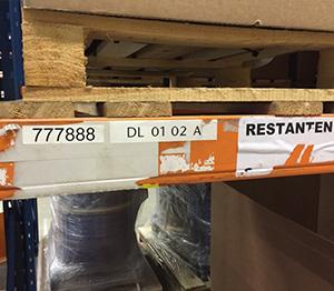 ONE2ID Magazijnlabels overplakken Block Out label adapter verwijderbare etiketten