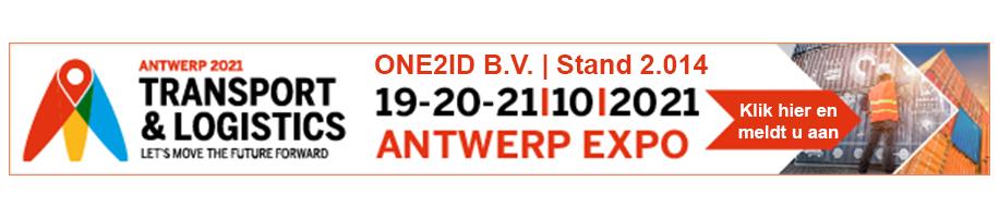 ONE2ID magazijnlabels vakbeurs Transport & Logistics Antwerpen