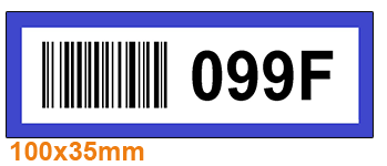 ONE2ID Color-coded barcode labels racks and shelves