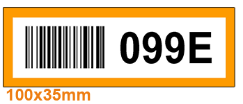 ONE2ID Colour-coded warehouse barcode labels