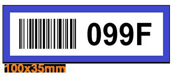 ONE2ID Legbordstelling labels met barcode