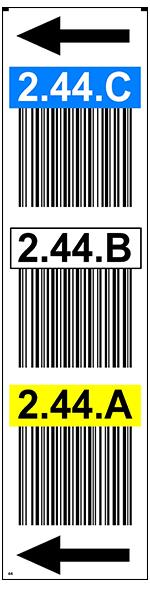 ONE2ID Magazijnlabel staander barcode bulklocatie