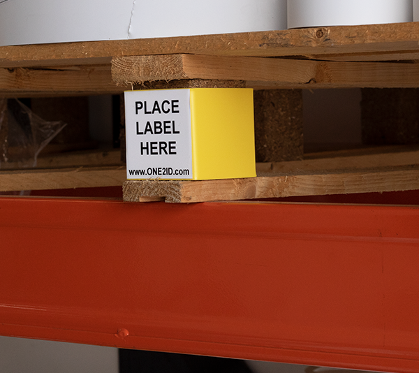 ONE2ID Pallet labels magazijnlabels label adapter scannen barcode labels