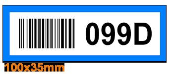 ONE2ID Picklabels magazijnlabels met kleur en barcode