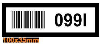 ONE2ID Picklocatie etiketten magazijnlabels