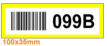 ONE2ID Rack and shelf labels order picking