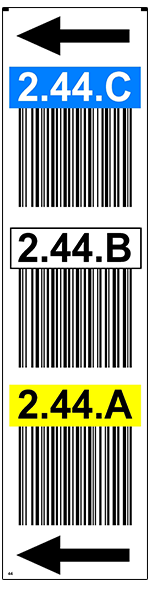 ONE2ID Warehouse label overhead bay bulk storage
