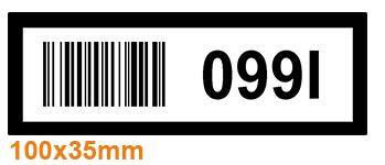 ONE2Id Warehouse labels multicolor barcode labels