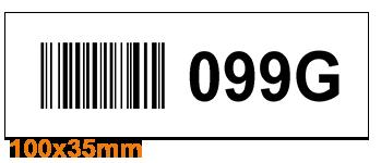 ONE2Id Warehouse labels rack and shelf